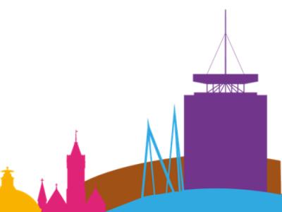 Cardiff illustrated skyline